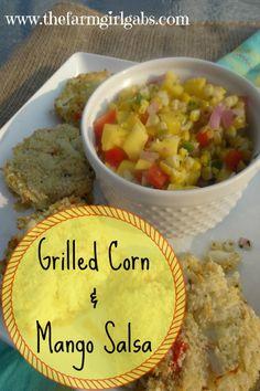 Grilled Corn & Mango Salsa from www.thefarmgirlgabs.com