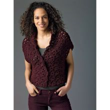 Lion's Pride® Woolspun® Crochet Vest (Level 2)