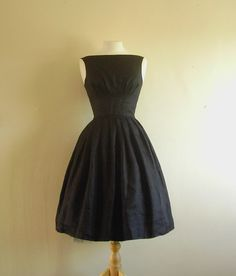 Black Tiffany Prom Dress  Custom listing for by digforvictory, £109.00 -- so simple, I love it