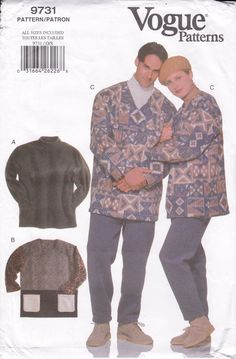 Vintage Sewing Pattern 1997 Matching Pullover Smock Top Pants Unisex Men Miss Size xs-xl Chest 30 32 34 36 38 40 42 44 46 48 FF UNCUT by LanetzLiving on Etsy Mens Sewing Patterns, Vogue Patterns, Simplicity Sewing Patterns, Peplum Jacket, Skirt Pants, Vintage Men, Smocking, Unisex, Pullover