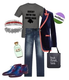 """""""Weezie"""" by millarca ❤ liked on Polyvore featuring Diesel, Gucci, Kate Rowland and Bestie"""