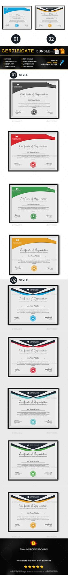 Modern certificate modern templates and psd templates yadclub Gallery