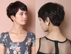 Among jazzy short cuts you will find the vibrant layered pixie haircuts Th.Among jazzy short cuts you will find the vibrant layered pixie haircuts They are the common pixie that lived a peak of popularity in Black Haircut Styles, Short Black Haircuts, Haircuts With Bangs, Short Cuts, Pixie Haircut Styles, Short Layers, Pixie Haircut 2017, Haircut Short, Hairstyle Short