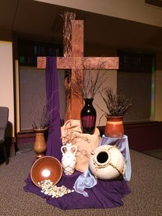 GAUMC Worship Center Lenten Altar 2014