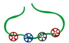 craft - Train Wheel Necklaces made from colored wagon wheel pasta