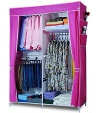 Large Portable Wardrobe Organizer Clothes Garment Storage Closet Rack- 7 Colors!