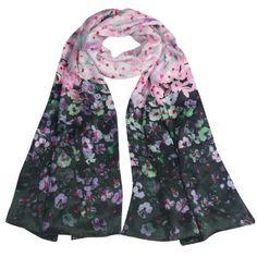 cherri blossom, long scarf, scarf shawl, scarves, charmeus silk, cherries, silk cherri, blossom long, cherry blossoms