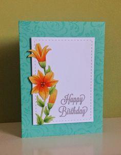 Beth's Little Card Blog: Lily birthday card