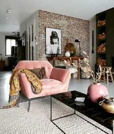 Inspirational ideas about Interior Interior Design and Home Decorating Style for. - Inspirational ideas about Interior Interior Design and Home Decorating Style for Living Room Bedroo - Home Living Room, Apartment Living, Interior Design Living Room, Living Room Designs, Living Spaces, Apartment Interior, Interior Paint, Living Room Brick Wall, Cute Apartment Decor