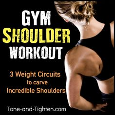 Sculpt incredible shoulders in the gym with this amazing workout from Tone-and-Tighten.com #workout #fitness #exercise