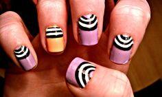half moon #manicure #nailart #naildesign #nailpolish #nails    http://www.inlivinglacquer.tumblr.com