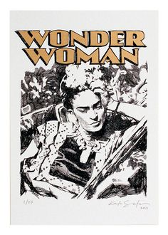 WONDER WOMAN/FRIDA KHALO by Kostas Seremetis Archives, via Flickr