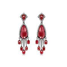 SUTRA RUBY EARRINGS £10,900 20.33 carat ruby 1.79 carat dazzling diamonds.