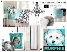 The Yellow Cape Cod: Hannah's Bedroom Makeover    Love this! includes white, gray, and teal  !