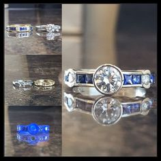 Custom projects are so fun! Check out how we combined these family stones into… The Family Stone, Custom Jewelry Design, Sapphire, Stones, Jewels, Rings, Check, Instagram Posts, Projects