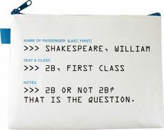 Flight 001 2b Or Not 2b Tar. Pouch White - via eBags.com!
