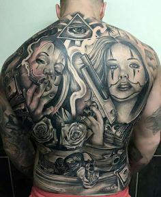 Cholo Tattoo, Payasa Tattoo, Devil Tattoo, Forarm Tattoos, Chicano Tattoos, Chicano Art, Body Art Tattoos, Sleeve Tattoos, Cool Chest Tattoos
