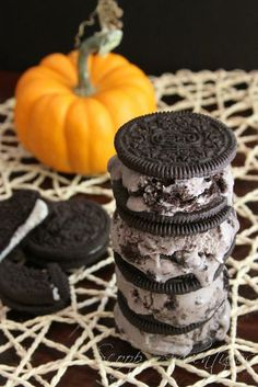 Double Oreo Ice Cream Sandwich