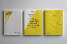 Exhibition catalogues for Design Miami Basel 2009, 2010, 2011 by Madethought by bcmng