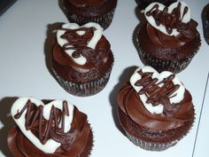 Chocolate Chocolate Chip - Bridal Shower Cupcakes