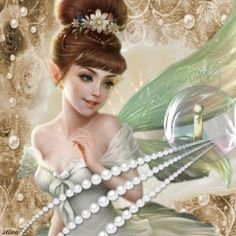 Pearls - the June Fairy's Delight ...Fairy Blingee by stina scott