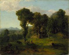 Landscape (Berkshire Hills, Massachusetts), George Inness, circa 1851, Anonymous Gift