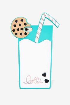 Lolli Swim Milk and Cookies iPhone Case Shop Accessories at Nasty Gal! Smartphone Iphone, Coque Iphone 5s, Coque Ipad, Iphone Case, Weird Phone Cases, Ipod Cases, Phone Covers, Phone Accesories, Tech Accessories