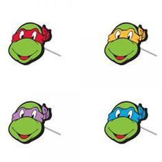Teenage Mutant Ninja Turtles 4 Faces Earrings