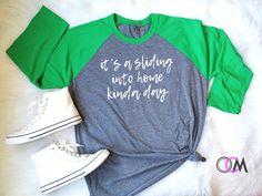 Patrick's Day Shirt, Lucky Shirt, Women's Irish Shirt - Raglan - One Crafty Momma Baseball Tee Shirts, Baseball Pants, Vinyl Shirts, Baseball Mom, Sports Shirts, Nationals Baseball, Baseball Clothes, Baseball Tips, Baseball Uniforms