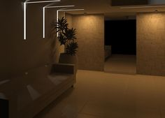 Embutido parede e teto GAP ILUMINAR LED.