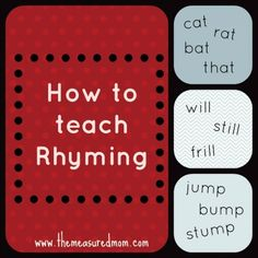 Wondering how to teach rhyming?  Learn some playful ways to learn, plus a list of rhyming games that your child will love.