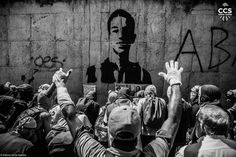 A group of demonstrators pay tribute to Neomar Lander, a 17 years old protester that died on June 7th, during protests against President Nicolas Maduro. Venezuela Protests. Caracas, Venezuela. (09-06-2017)