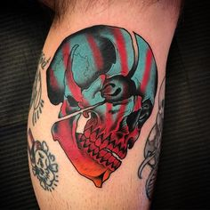 search rosermelody for more pins like this Bone Tattoos, Skull Tattoos, Body Art Tattoos, Sleeve Tattoos, Color Tattoos, Tatoos, Modern Tattoos, Unique Tattoos, Beautiful Tattoos