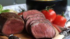 Roast Beef, Polenta and Tomatoes