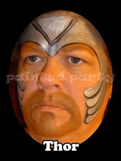 face painting thor - Google Search