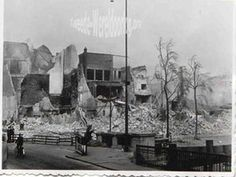 WW2 in the Netherlands - Rotterdam May 14th 1940 - Leuvehaven.