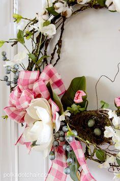 How to make a cute Magnolia Spring Wreath