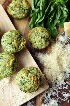 Pesto-Spinach Muffins - homemade pesto mixed with spinach and mozzarella cheese come together to create a savory muffin.