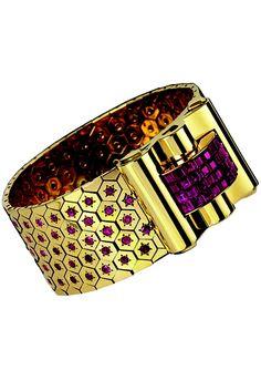 Paris Museum Sets Van Cleef & Arpels Expo - WWD.com. A 1934 cuff bracelet by Van Cleef & Arpels.  Photo by Courtesy of Les Arts Décoratifs- perfection!!