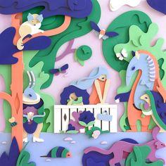 """다음 @Behance 프로젝트 확인: """"POLVELLA exhibition illustrations"""" https://www.behance.net/gallery/42506991/POLVELLA-exhibition-illustrations"""