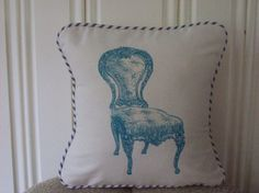 shabby chic, french country vintage chair pillow sham from www.kreativbyerika.etsy.com, $30.00