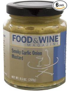 Food & Wine Magazine Smoky Garlic Onion Mustard, 10-Ounce Jars (Pack of 6): Amazon.com: Grocery & Gourmet Food
