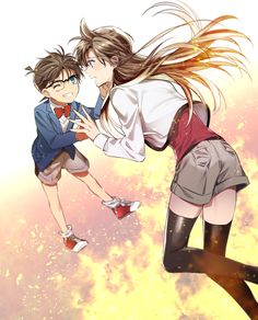 Detective conan will always be the best anime! Ran And Shinichi, Kudo Shinichi, Yuri, Magic Kaito, Wattpad, Anime Girlfriend, Detective Conan, Sherlock Holmes, Anime Pictures