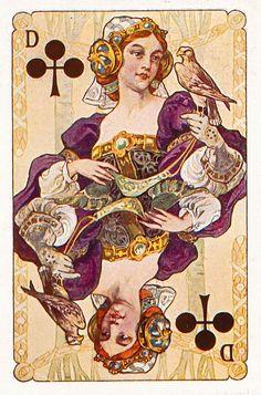 #PlayingCardsTop1000 - Gewaendern - Queen of clubs