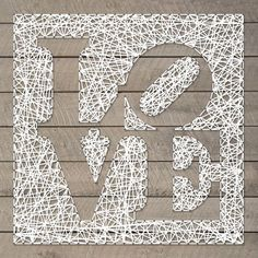 love square reverse sculpture representation choose your color custom string art