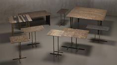 nilufar-gallery-design-miamibasel-2015_designboom_007  Rilievi sidetables etc in bronze by osanna visconti di modrone