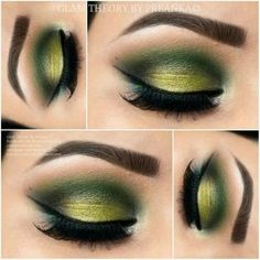 When it comes to eye make-up you need to think and then apply because eyes talk louder than words. The type of make-up that you apply on your eyes can talk loud about the type of person you really are. Eye Makeup Tips, Smokey Eye Makeup, Eyeshadow Makeup, Eyeshadows, Makeup Ideas, Makeup Primer, Green Smokey Eye, Makeup Tutorials, Fashion Make Up
