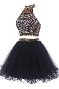Black 2 pieces Homecoming Dresses,Short Prom Dresses,Gorgeous Cocktail Dresses  http://www.luulla.com/product/620161/balck-2-pieces-homecoming-dresses-short-prom-dresses-gorgeous-cocktail-dresses