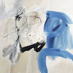 """""""The Future That We Serve,"""" abstract blue painting by artist Sander Steins available at Saatchi Art   See more affordable original art on Saatchi Art: http://www.saatchiart.com/art-collection/Painting-Drawing-Photography/Originals-for-2000-or-less/153961/103016/view #blue"""