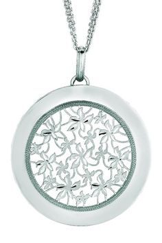 Sterling Silver Round Pendant Necklace